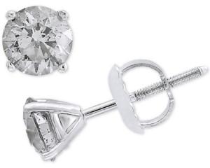 Effy Diamond Stud Earrings (1 ct. t.w.) in 14k White Gold
