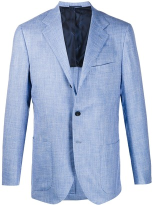 Kiton Single-Breasted Fitted Blazer