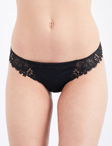 Simone Perele Wish mesh and lace tanga briefs