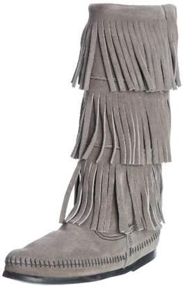 Minnetonka Calf Hi 3-layer Fringe, Women's Mocassins Boots,4 UK