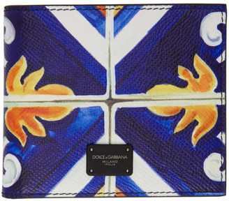 Dolce & Gabbana Multicolor Maiolica Bifold Wallet