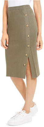 Hippie Rose Juniors' Button Sweater Skirt