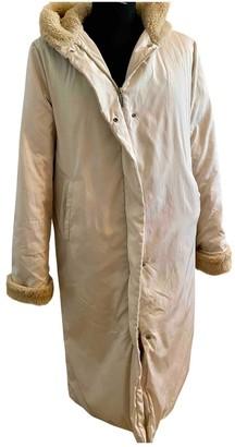 Trussardi Jeans Beige Coat for Women