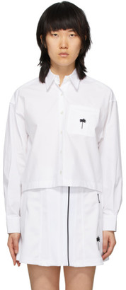 Palm Angels White Boxy Short Shirt