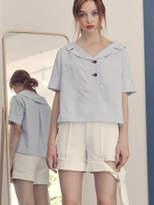 Wardrobe Summer Stripe Blouse Sky Blue