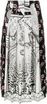 Gucci Chariot printed midi skirt - women - Silk - 40