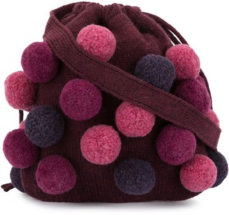 Familiar Knitted Pom Pom Bag
