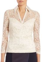 Theia Collared Lace Top