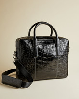 Ted Baker NUGGET Croc print leather document bag