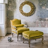 Graham and Green Antoine Armchair And Footstool Mustard