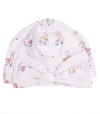 Kissy Kissy Llama Print Hat