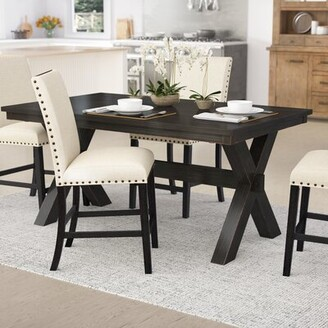 Laurèl Manitou Transitional Dining Table Foundry Modern Farmhouse