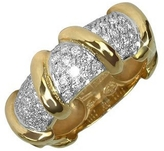 Torrini Twister - 18K Yellow Gold Diamond Ring