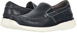 Propet Otis (Navy Full Grain Leather) Men's Slip on Shoes