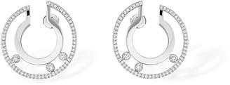 Messika Move Romane Large White Gold Hoop Earrings