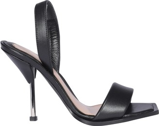 Alexander McQueen Square Toe Heeled Sandals