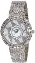 Burgi Women's Quartz Watch with Mother of Pearl Dial Analogue Display and Gold Metal Bracelet BUR118YG