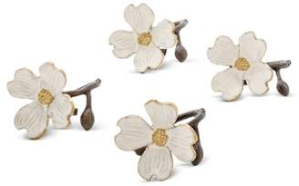 Michael Aram Dogwood Napkin Rings, Set of 4