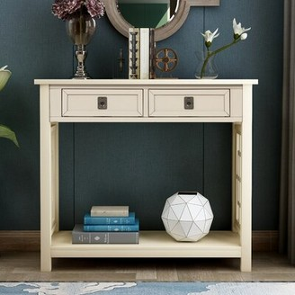 """Longshore Tides Bianco 36"""" Solid Wood Console Table"""