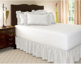 Harmony Lane Ruffled Bed Skirt - 21 Inch Drop - . Beautiful, High Quality, Poly Cotton Bed Skirts with Platform - by Ruckel Mfg.