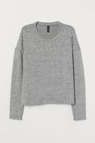 H&M Fine-knit Beaded Sweater