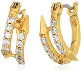 Nicole Miller New York Arrow Huggie Hoop Earrings