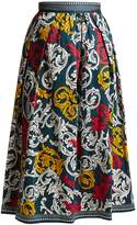 Mary Katrantzou Bowles high-waist poplin skirt