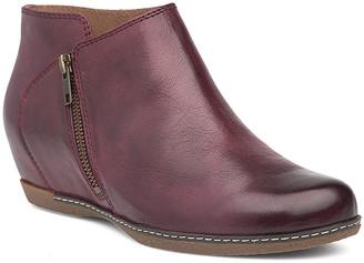 Dansko Women's Casual boots wine - Wine Leyla Leather Wedge Boot - Women