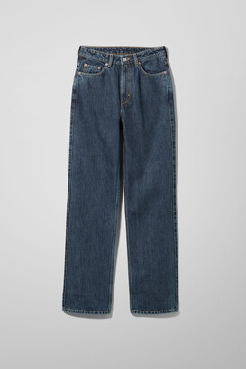Weekday Rowe Extra High Straight Jeans - Blue
