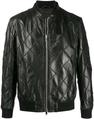 Desa 1972 Quilted Leather Bomber Jacket