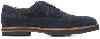 Tod's Lace-Up Suede Brogues