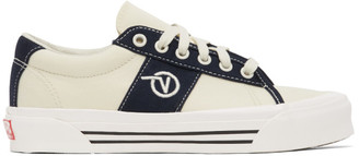 Vans Off-White and Navy OG Sid LX Sneakers