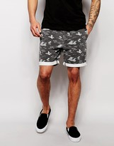 Asos Chino Shorts In Mid Length With Elasticated Waist