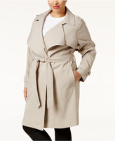 MICHAEL Michael Kors Size Draped Trench Coat