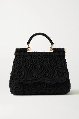 Dolce & Gabbana Sicily Crocheted Tote - Black