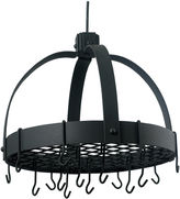 Old Dutch Graphite Dome Hanging Pot Rack with Gridand 16 Hooks