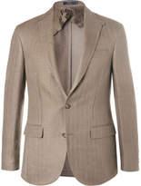 Polo Ralph Lauren Morgan Green Slim-Fit Unstructured Herringbone Linen Blazer