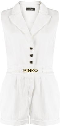 Pinko Logo Belt Playsuit