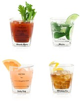 Kikkerland Bartending Glasses, Set of 4