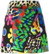 Moschino printed a-line skirt
