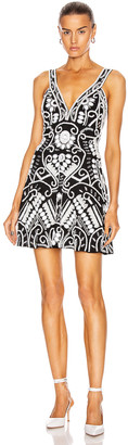 Alexis Jerza Dress in Black & White Embroidered | FWRD