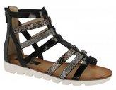 Savannah Womens/Ladies Low Wedge Gladiator Sandals With Diamante Trim