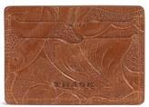 Trask Men's 'Jackson' Italian Steer Leather Card Case - Brown