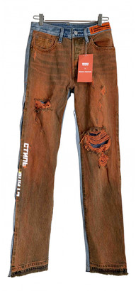 Heron Preston Orange Denim - Jeans Jeans