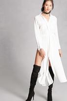 Forever 21 FOREVER 21+ Slit Maxi Shirt Dress