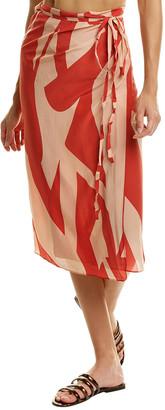 Haight Silk Sarong Skirt