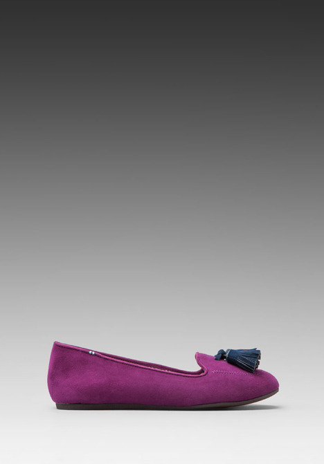 Charles Philip Shanghai Suede Flat with Tassel