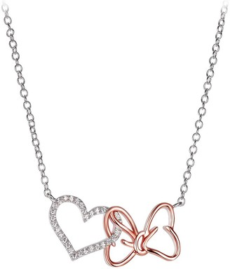 Disney Minnie Mouse Bow and Heart Necklace