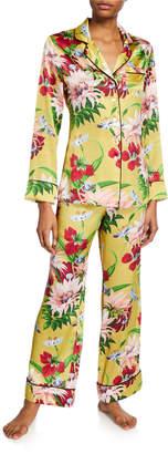 Olivia von Halle Lila Havana Floral Classic Two-Piece PJ Set