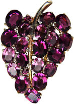 One Kings Lane Vintage 1930s Purple Faceted Glass Dress Clip